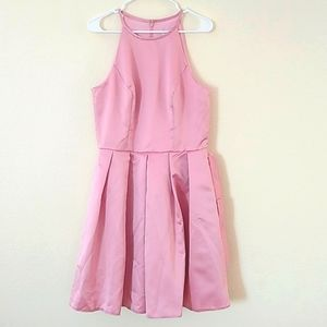 Gather and Gown pink satin formal